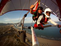 Taking a passenger on a hang glider