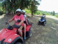 Viajando en quad por los bosques malaguenos