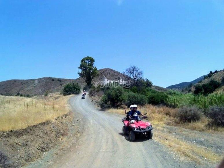 Conduciendo por el camino de Malaga