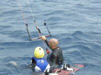Durante el curso de kite