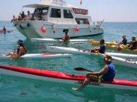 Kayaks afloat