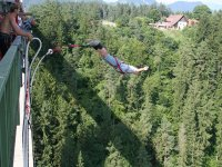 Bungee jumping from the bridge