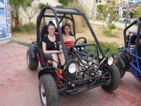 Two girls in buggy