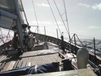 Cubierta de velero