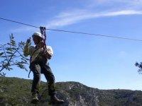 60 meters of zip line
