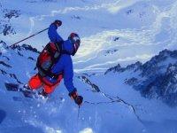 在巴凯艾勒monitora滑雪者滑雪