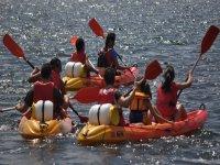 Expedición en kayaks por el Miño