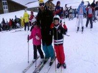 clase de esqui para  niños