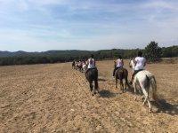 Horse riding through Santa Cristina de Aro