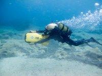 从沿海水下潜泳游踏板车