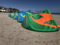 Kites on the beach of Mojacar