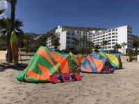 Equipo para los alumnos de kite