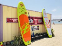Surfboards on the sand of Mojacar