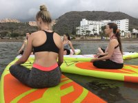 Paddle yoga in Almeria