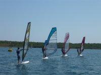 Windsurfing en grupo