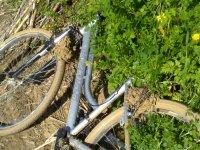 Bicicleta en la hierva