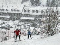 Esquiando en cuesta