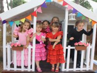 Taller de flamenco en el campamento