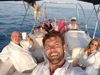 Gita in barca al tramonto