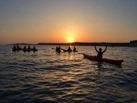 皮艇的海滩,梅诺卡皮艇皮艇冲浪上