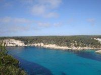 绿松石是大海沙滩梅诺卡梅诺卡