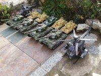 Battle remote control tanks