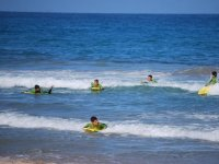 Peques on the bodyboard