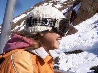 Sonriendo en la nieve