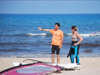 Indicating the best area for Windsurfing
