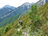 Sendero en los montes de Lleida a caballo