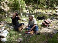 Pequeno picnic durante la ruta en Lleida