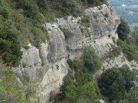 Escalando rocas vista panoramica
