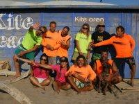Equipo de la escuela de kite