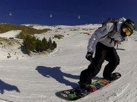 Aprendiendo snowboard en Sierra Nevada