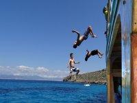 Saltos al mar en Mallorca
