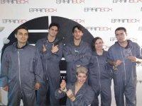 Team with prisoner monkeys