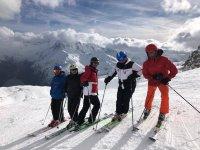 En Sierra Nevada con lo esquís