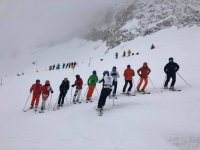 Aprendiendo esquí de fondo