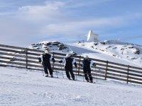 Aprendiendo a esquiar con los mejores