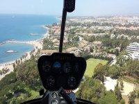Vista dall'elicottero