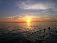 Amanecer a bordo de un barco