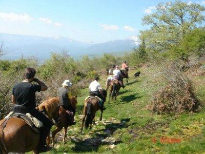 在洛索亚山谷骑马的半天