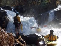 Kayaking course in whitewater