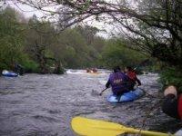 Kayaking in calm waters