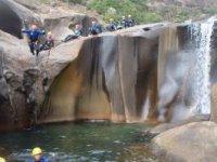 Desembocadura en forma de cascada
