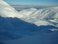 雄伟的雪域景观
