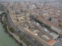 Catedral de Zaragoza en globo