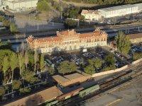 La estacion de Zaragoza desde el globo