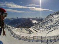区snowpark带跳300米,土堆