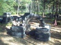 Escenario de neumáticos en As Neves